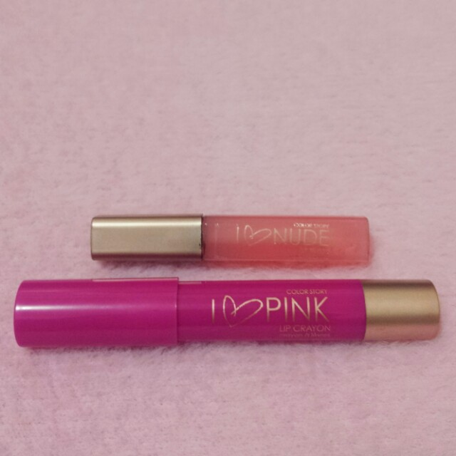 Color Story Lip Liner And Lip Gloss Health Beauty Makeup On