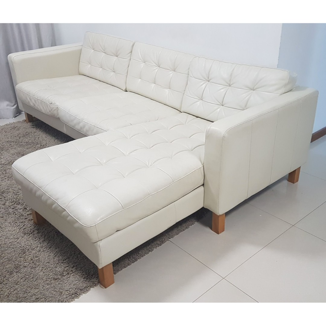 Fabulous Urgent Sale Ikea Landskrona Leather Sofa Furniture Sofas Creativecarmelina Interior Chair Design Creativecarmelinacom
