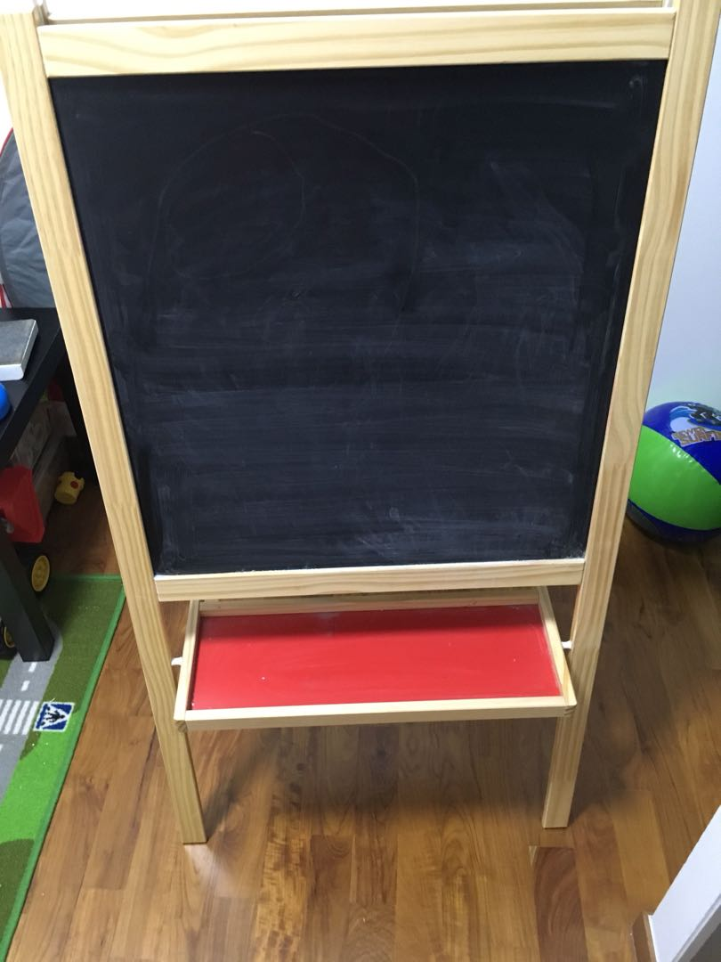 Ikea Mala Easel And Drawing Roll Pad On Carousell