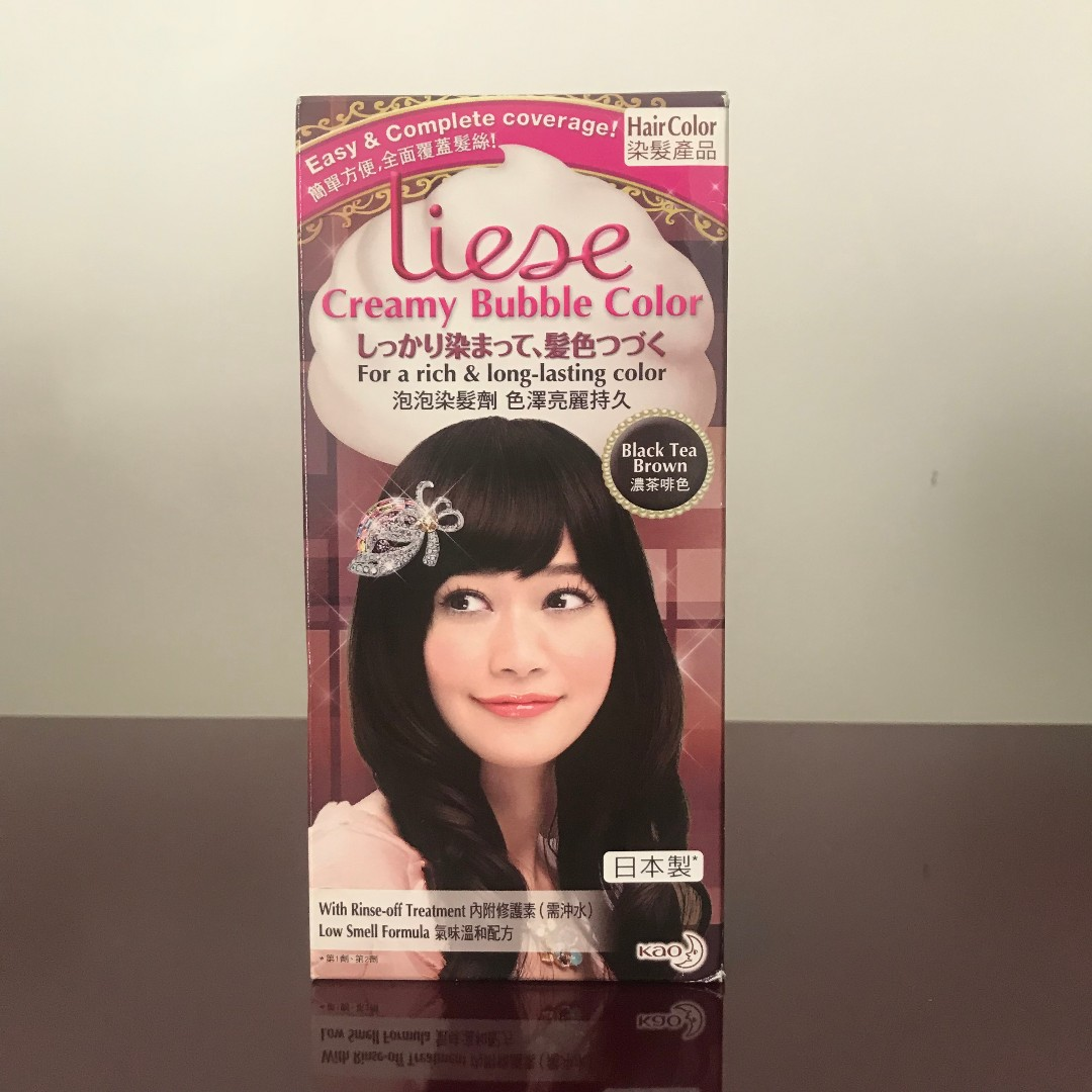 Liese Creamy Bubble Color Black Tea Brown Health Beauty Hair