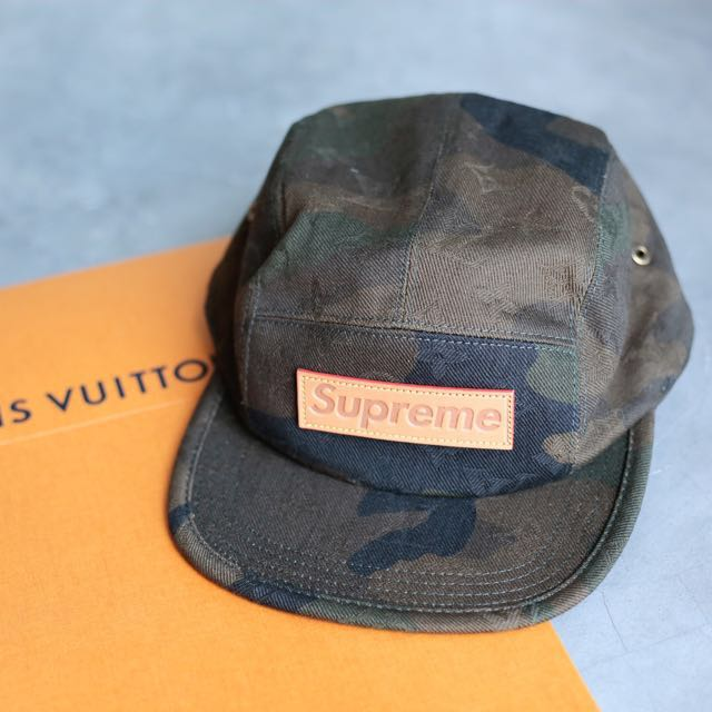 Louis Vuitton x Supreme 5 Panels Cap in Camo One Size Fits All ( LV ... 394fb5191f6a