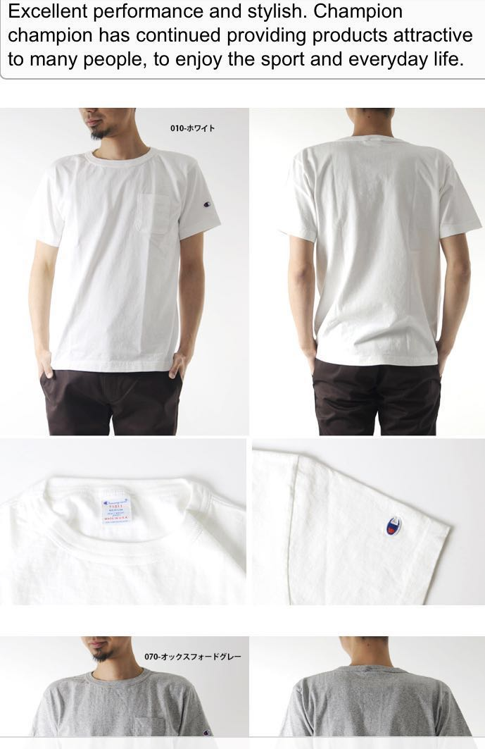 fd7ba2a40 New) Champion White T shift with pocket