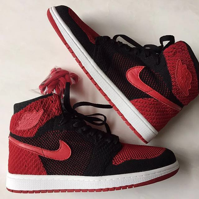 huge selection of 09f7b 08512 Nike Air Jordan 1 Flyknit 'Bred'