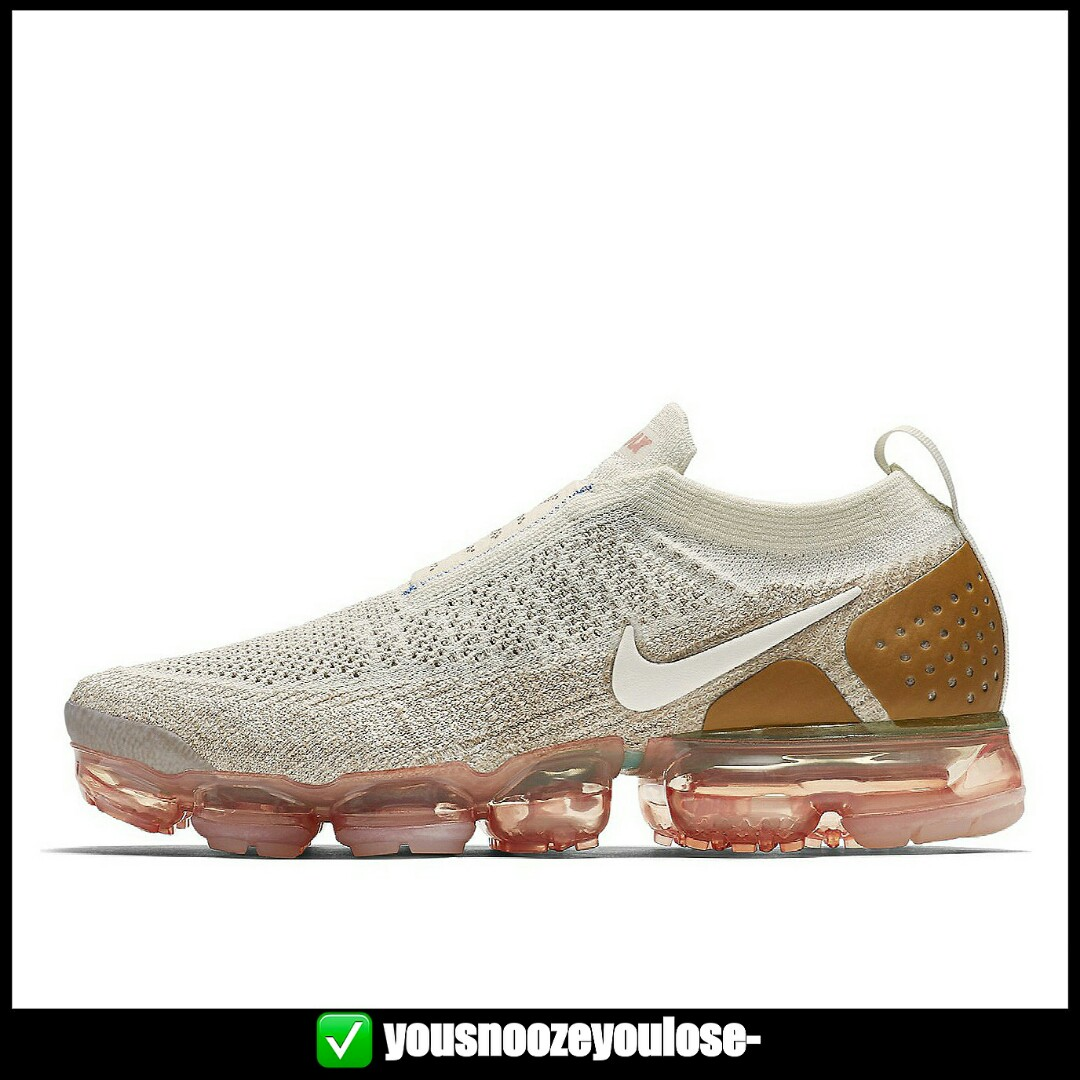 PREORDER NIKE AIR VAPORMAX FLYKNIT MOC 2.0 LACELESS SAIL ANTHRACITE SAND  WHEAT GREEN, Bulletin Board, Preorders on Carousell