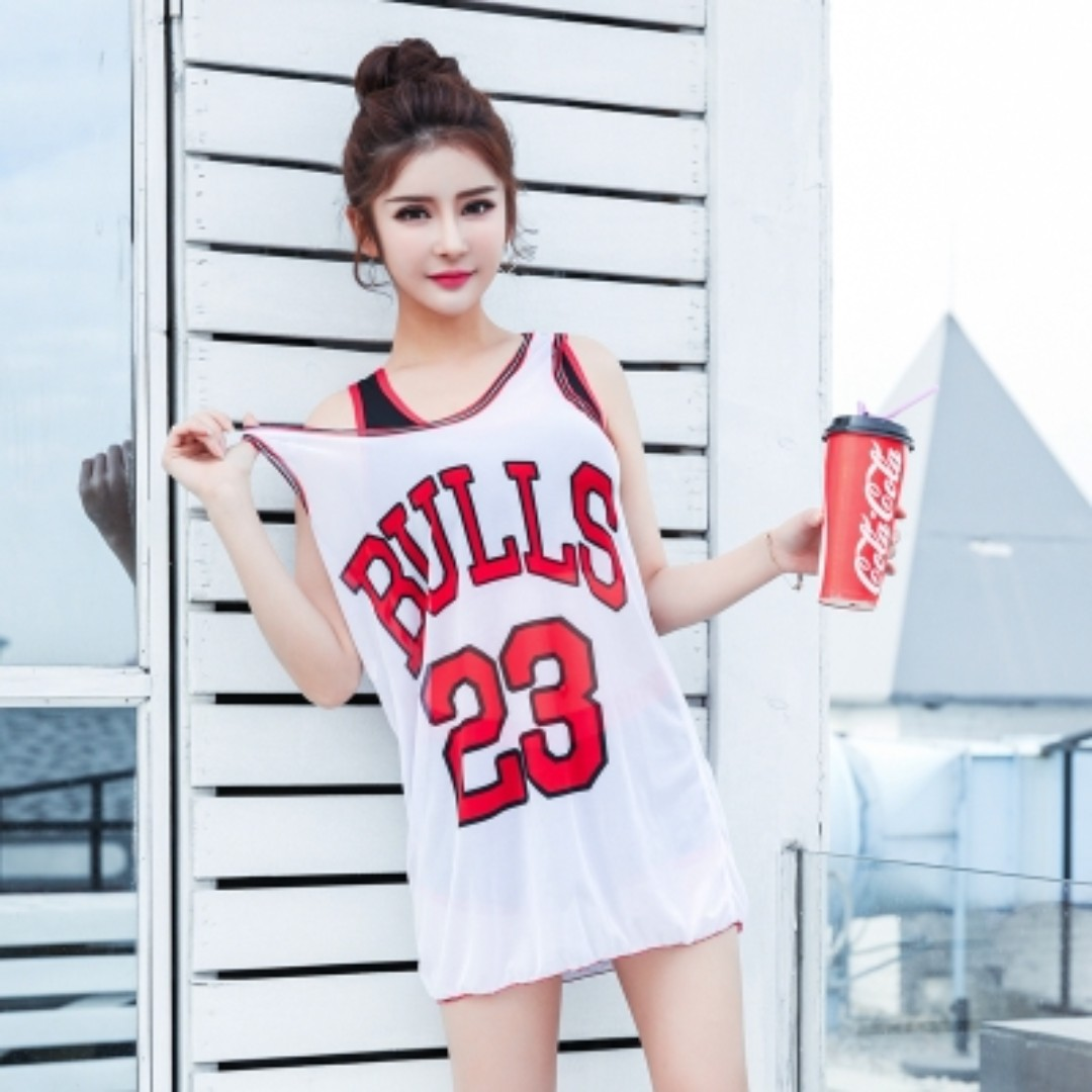 485047d3c2  PRE-ORDER  Women Conservative Swim Wear 3 Piece With Basketball Shirt Plus  Size Summer Swimsuit  White Red Camo Powder Camo Scarlet