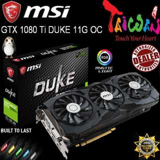 "MSI GTX 1080 Ti DUKE 11GB OC GeForce..( Ex-Stock Today  13 May 18 ) ""While Stock Last..."""