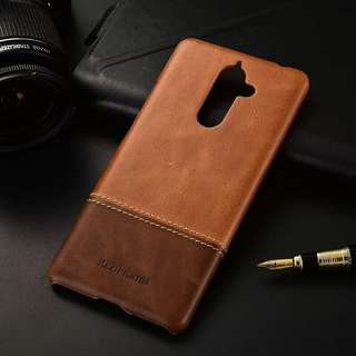 Nokia 7 Plus leather casing