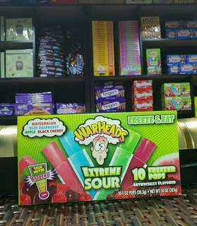 Sour Patch and War Head Freezer Pops
