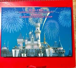 香港迪士尼郵票及首日封套庄,另送貼紙