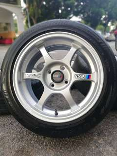Ssr type c 15 inch sports rim saga flx tyre 70% *big big offer*