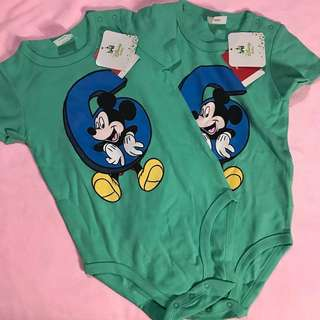 0 MONTHS - 2 YEARS FOX DISNEY  MICKEY MOUSE ROMPER