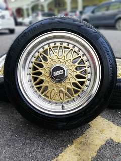 Bbs rs 15 inch sports rim vios tyre 90%. *below market price*