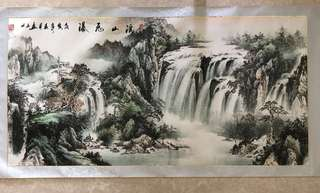 画家 张云 <<溪山飞瀑图>> Chinese painting
