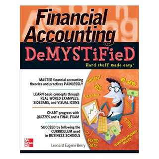 Financial Accounting DeMYSTiFieD 1st Edition, Kindle Edition by Leonard Eugene Berry  (Author)