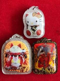 Lersi Gee Kong BE2561 Waikru Special Bundle 3 piece set Hello Kitty, Cai Shen Mao & PhayaYom