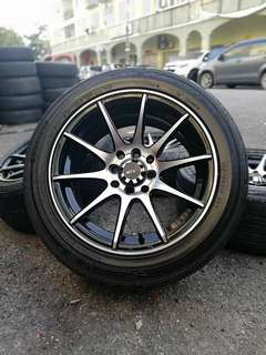 Activ 15 inch sports rim wira tyre 70%. *kuat kuat offer *