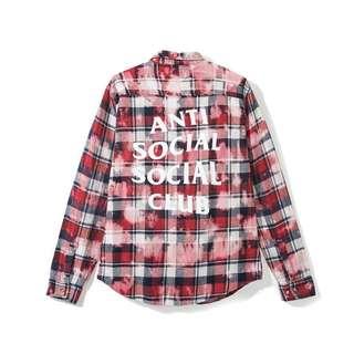 Anti Social Social Club Psy flannel size M