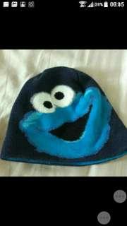 Free mail: H&M Sesame Street cookie monster ski hat winter hat EUR 92/104