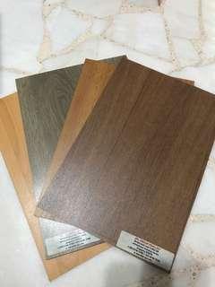 Vinyl flooring / timber / wood / floor material / Laminates / sample / material sample / interior design / material board / timber / wood / metal