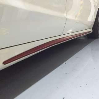 Mercedes side skirt wrap