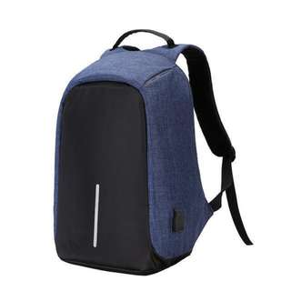 2018 Multi-function Waterproof Anti Theft Backpack Bag (Blue)