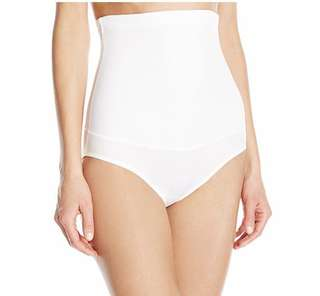 [IN-STOCK] Maidenform Flexees Women's Shapewear Hi-Waist Brief Firm Control Fat-Free Dressing 1854 - White
