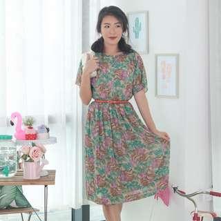 🍿 Vintage Midi Dress VD1280