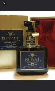 陳年老日威。三得利RoyaI12年威士忌720mI連盒。