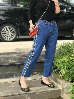 Celana jeans boyfriend kekinian rawis rumbai