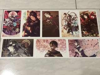 Touken Ranbu postcards