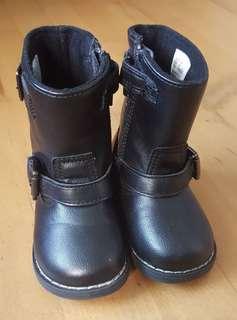 H&M black toddler boots