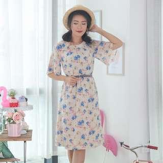 🍿 Vintage Midi Dress VD1283
