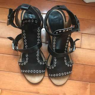 Black Studded Topshop Sandals