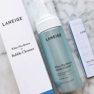 Laneige white plus renew bubble cleanser