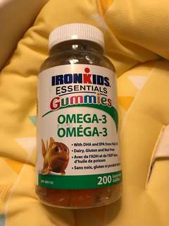 IronKids Essentials Gummies Omega3 兒童DHA補充軟糖