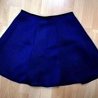 Blue net skirt