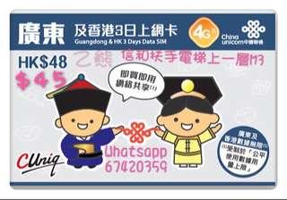 廣東+香港3日上網