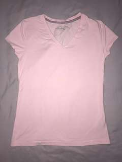 Basic Pink V-Neck T-Shirt