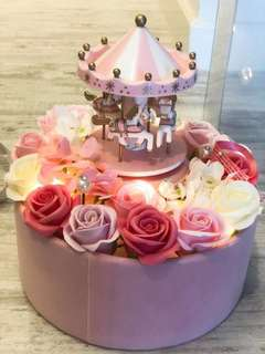 Carousell Flower Music Box (Merry-go-round)