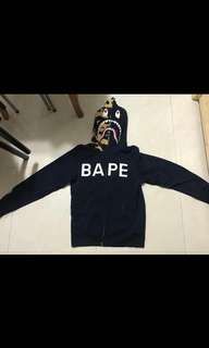 Bape zip up s size