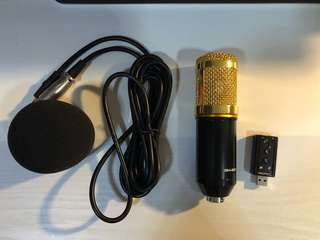 BM 800 Condenser mic with USB sound card