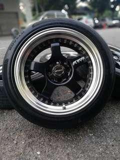 Work s1 16 inch sports rim grand livina tyre 70%. *dibawah harga pasaran*