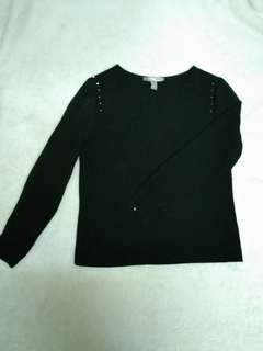 Forever 21 Long sleeve blouse with studs(See through sleeves)