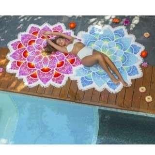 🔥 Chabshop Flower Shape Beach Towel Bikini Cover