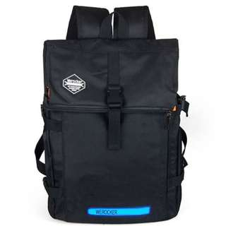 Flash Luminous Outdoor Leisure Riding Travel Backpack Bag
