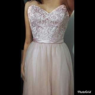 Gorgeous blush pink prom dress