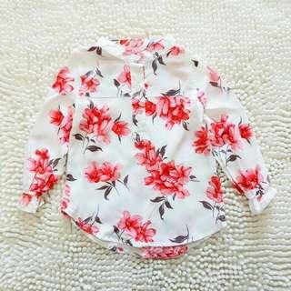 Blush lily blouse