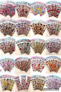 3D POP Out Sticker bubble sticker