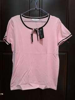 🚚 粉色針織上衣(M)