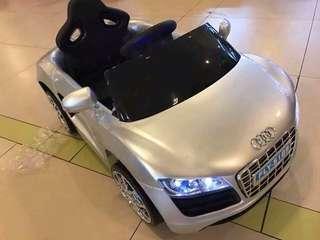 Silver Audi R8 Spyder 6V Battery Ride-On Convertible Sports Car